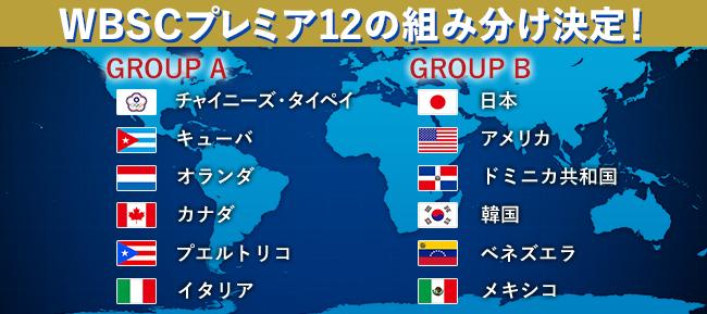 第1回WBSCプレミア12の組み分け決定!開幕戦は日本vs韓国 | ニュース コラム | ベースボールドットコム
